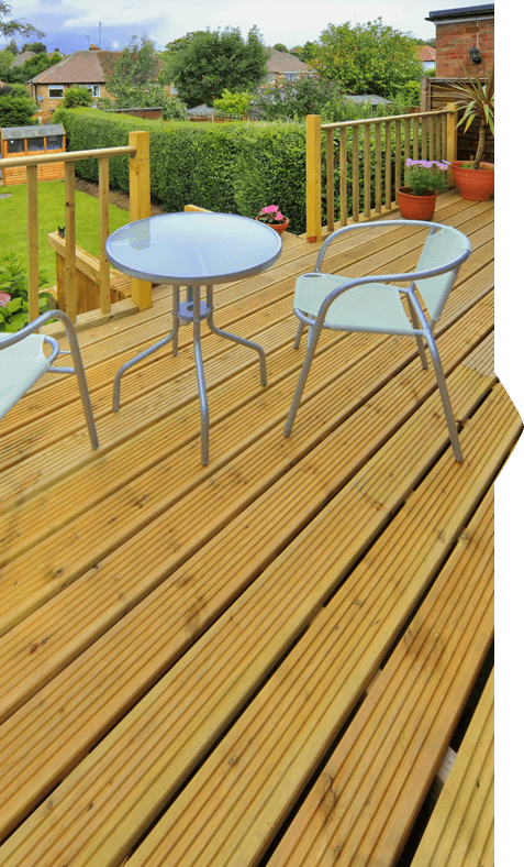 garden decking solutions in Colchester, Essex